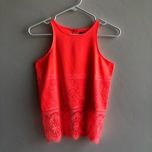 Missguided Racerback Lace Detail Tank